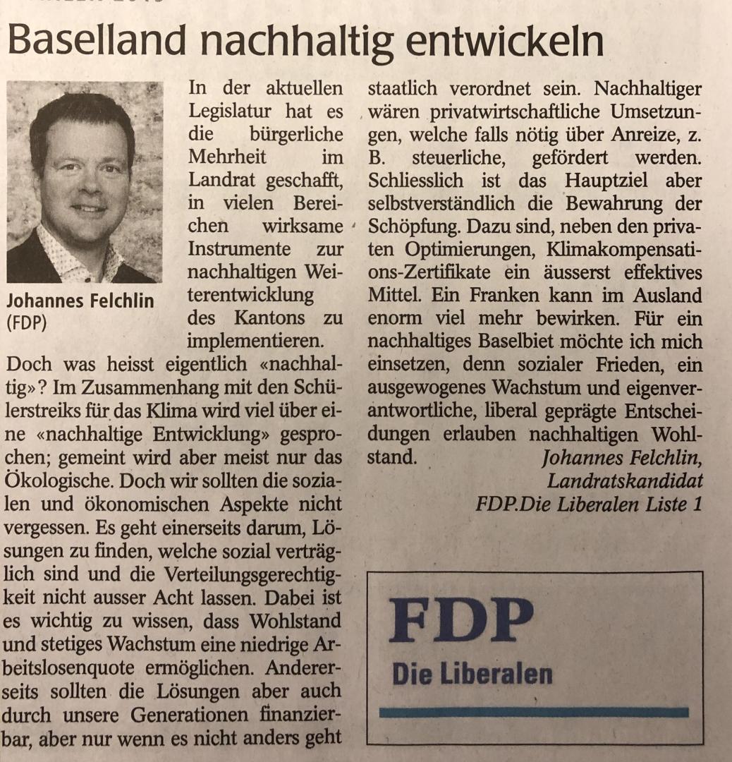 Baselland nachhaltig entwickeln