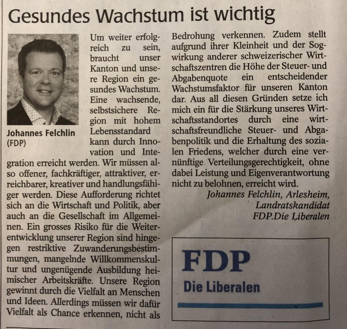 Stärkung unseres Wirtschaftsstandort Baselland
